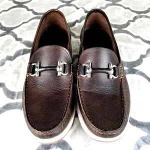 Restoration Santos Horsebit Brown Slip On Loafers